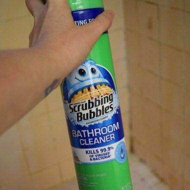 Spray Scrubbing Bubbles for April Showers
