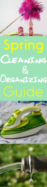 Spring Cleaning and ORganizing Guide Pinterest