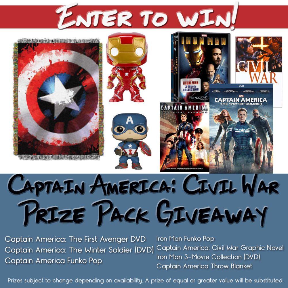 The ULTIMATE Captain America: Civil War Giveaway #Giveaway #CivilWar #TeamCap #TeamIronMan