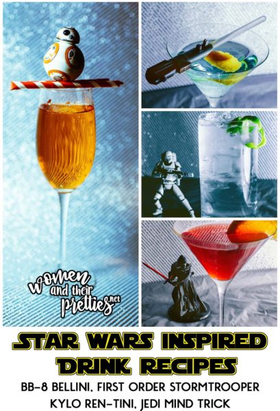 Star Wars Drink Recipes - BB-8 Bellini, First Order Stormtrooper, Kylo Ren-Tini, Jedi Mind Trick #StarWarsDay #TheForceAwakens #StarWars - Easy Star Wars Drink Recipes