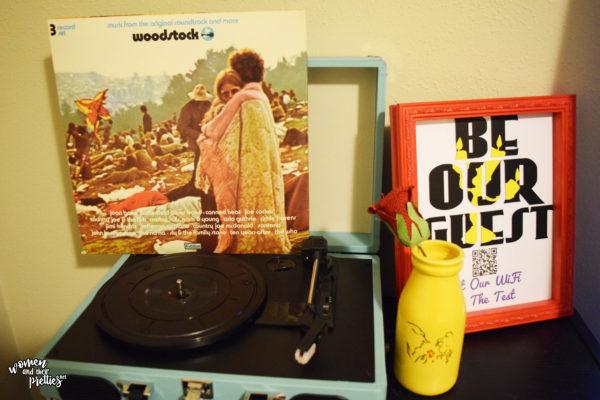 Vintage Record Player Set Up