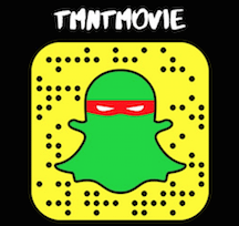 TMNTMOVie Snap Chat