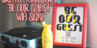 Be Our Guest DIY WiFi sign & Teaser Trailer: Beauty and The Beast – Live Action! #BeOurGuest #DIY