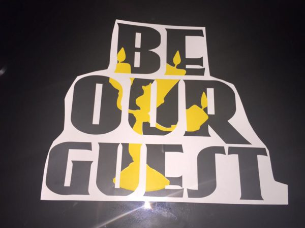 Be Our Guest Vinyl - DIY WiFI Sign