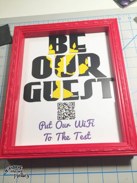 Be Our Guest Wifi Sign finished project - DIY Wifi Sign