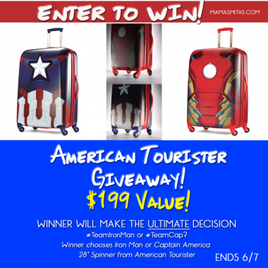 Captain America IRON MAN American Tourister Giveaway
