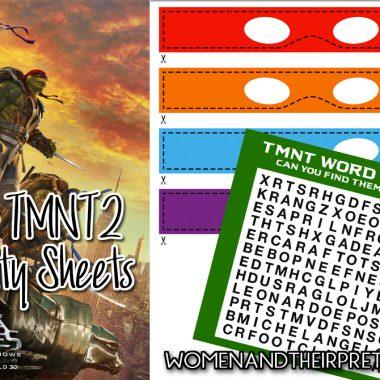 TMNT Activity Sheets
