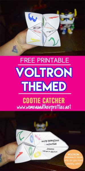 Free Voltron Cootie Catcher Printable