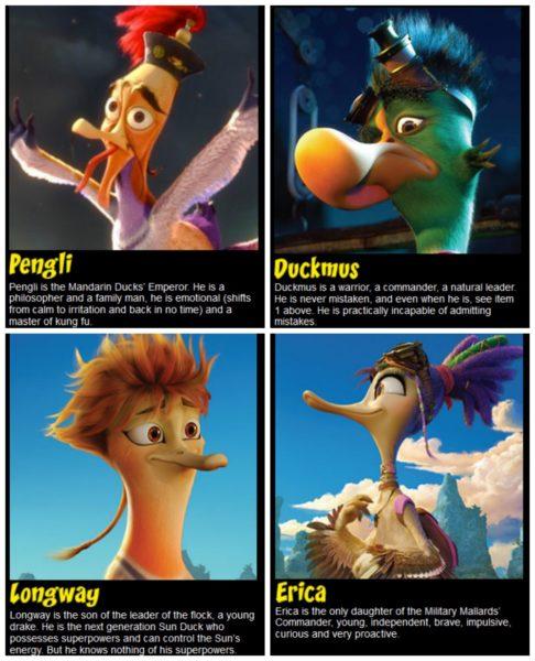 Quackerz Characters