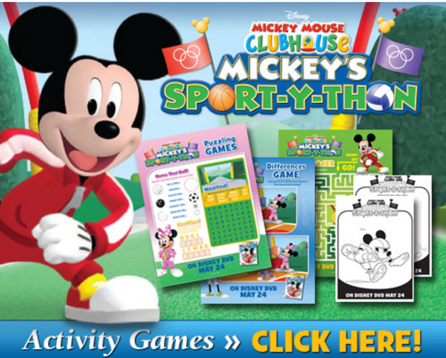 Mickets Sport-Y-Thon Activity Sheets