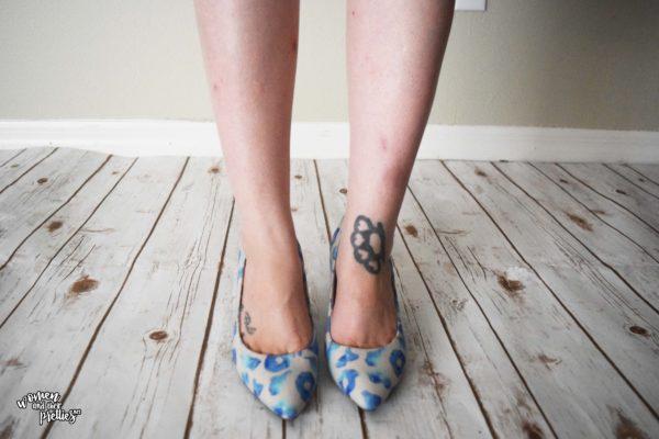 Springtime Blues Leopard Print Pumps
