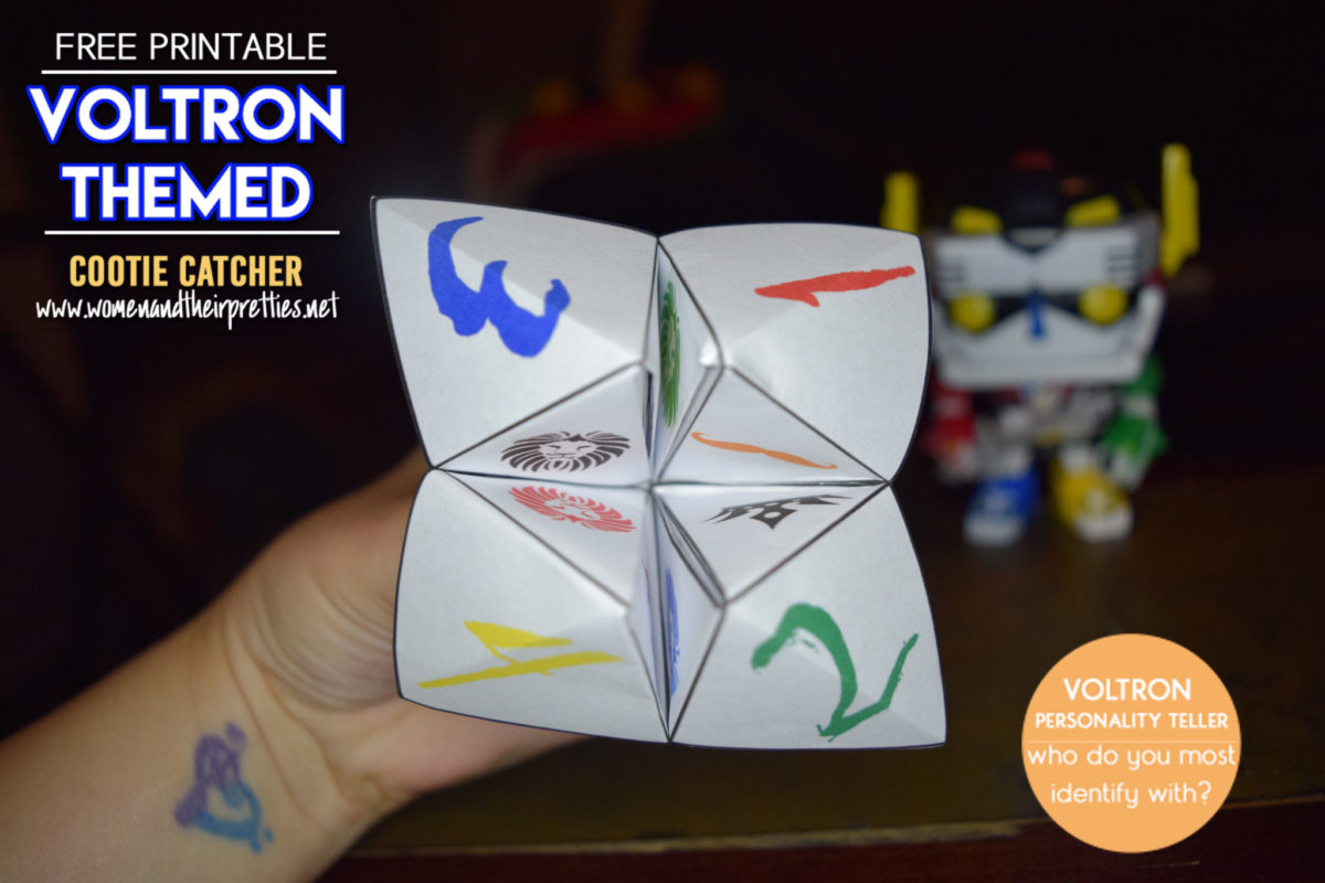 Voltron Themed Cootie Catcher
