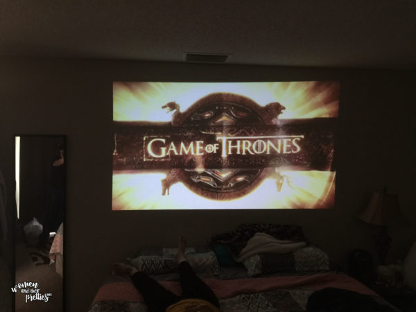 Watching our favorite shows on the ZTE SPRO 2 Smart Projector