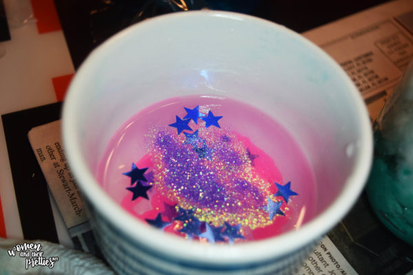 Add glitter to paint DIY BFG Dream Jars #TheBFG #DIY