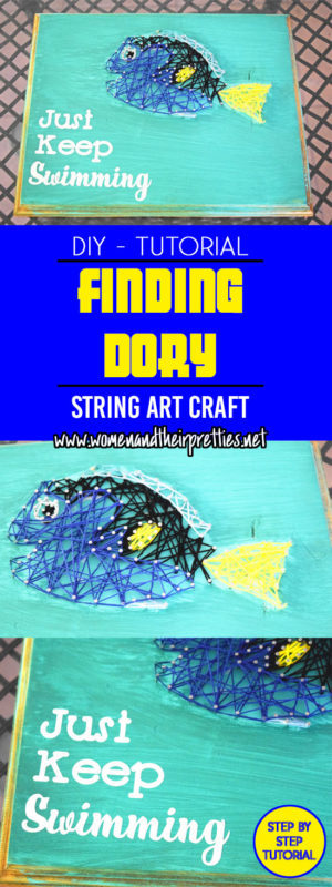 Create your own Finding Dory string art with this tutorial!