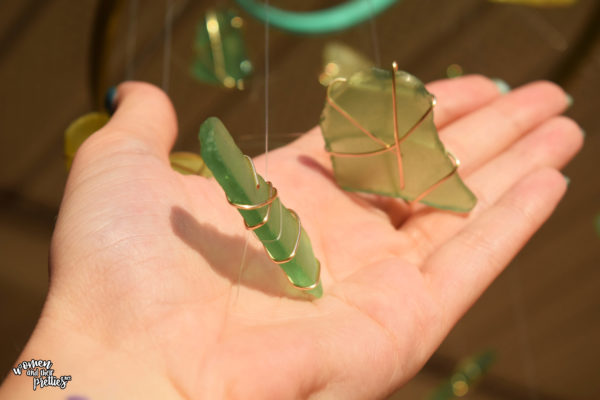 DIY Wind Chime with Sea Glass