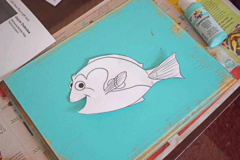 Finding Dory String Art Craft Tutorial Choose your drawing