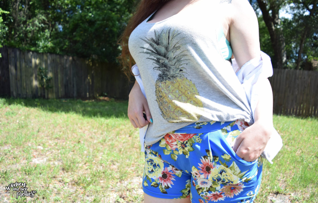 Hello Pink Boutqique harem floral shorts OOTD