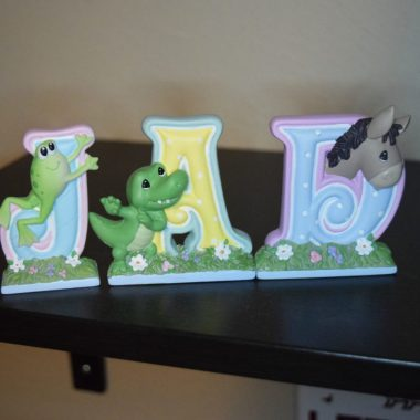 Precious Moments Alphabet Figurines