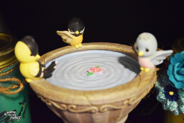 Precious Moments Musical Fountain Birds