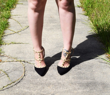 Studded pumps from metrostyle
