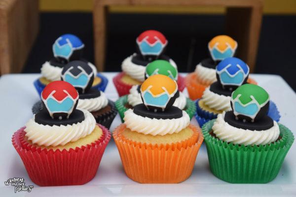 Voltron Heros Helmets Cupcakes