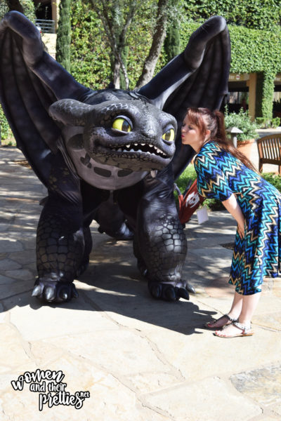 With Toothless at DreamWorks Animation