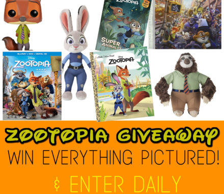 Zootopia Blu-ray release giveaway