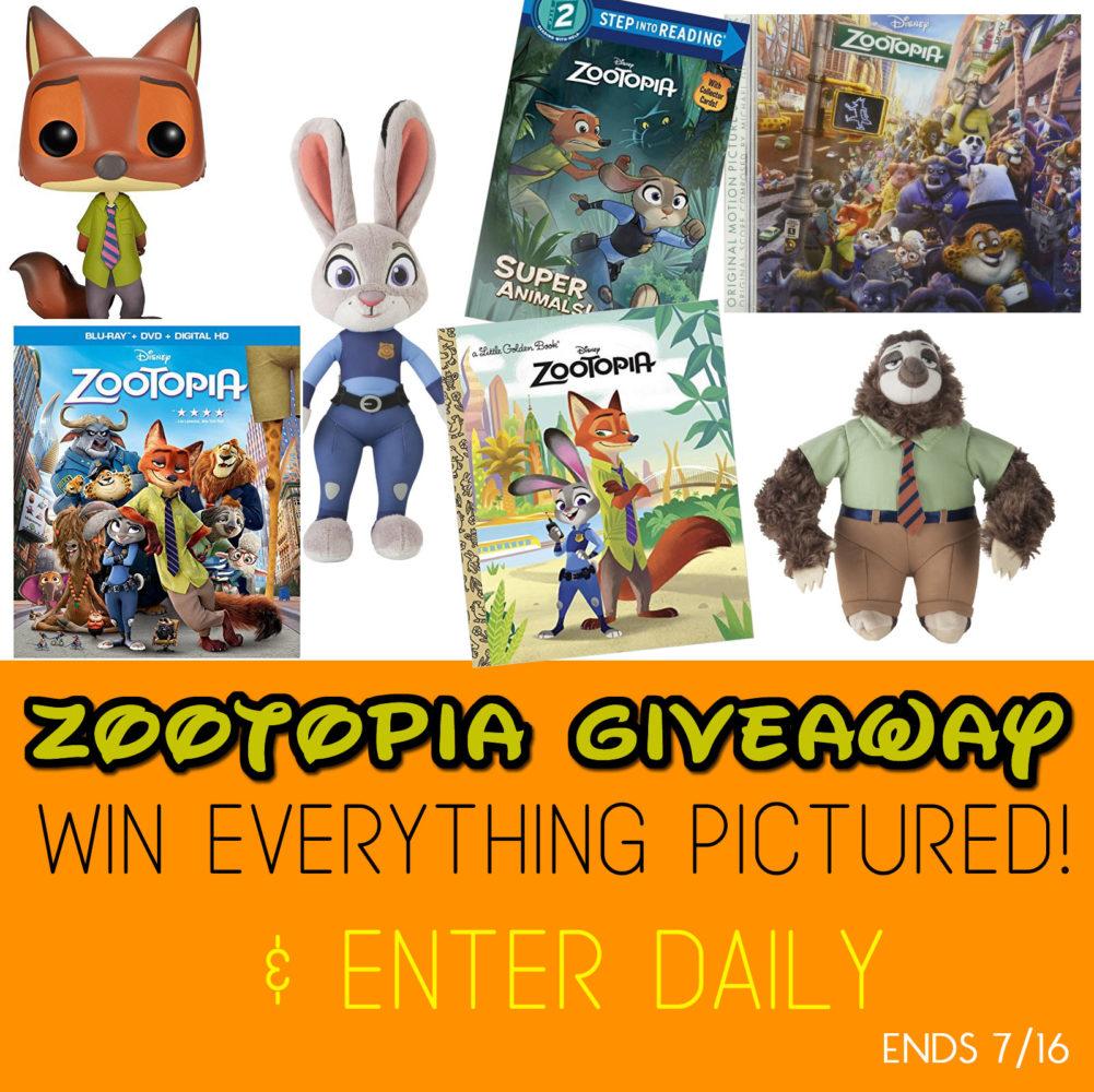 Zootopia Blu-ray release giveaway