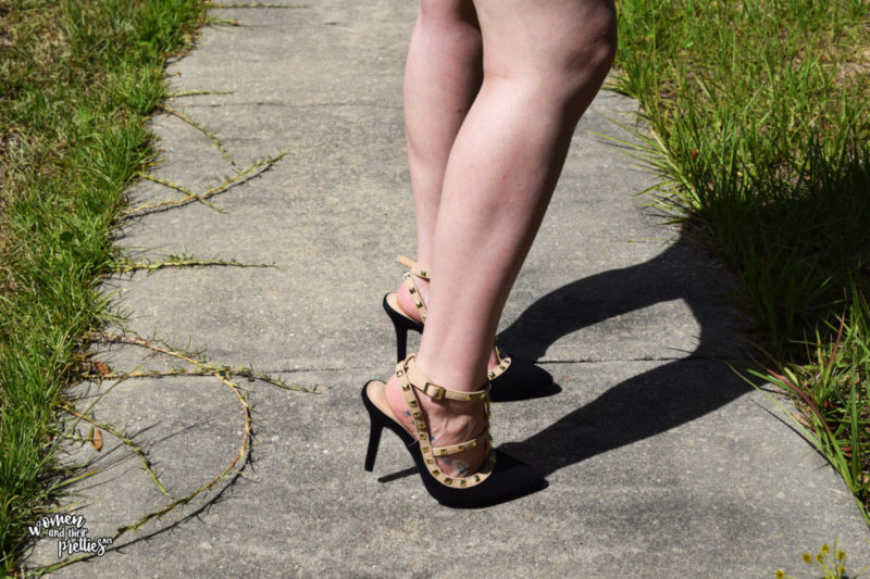 black Studded pumps from metrostyle