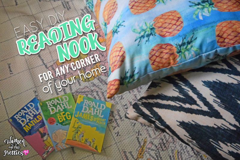 Create a reading nook that will fit into any corner of your home - it's quick and easy (and not just for kids) #HomeDecor #Reading