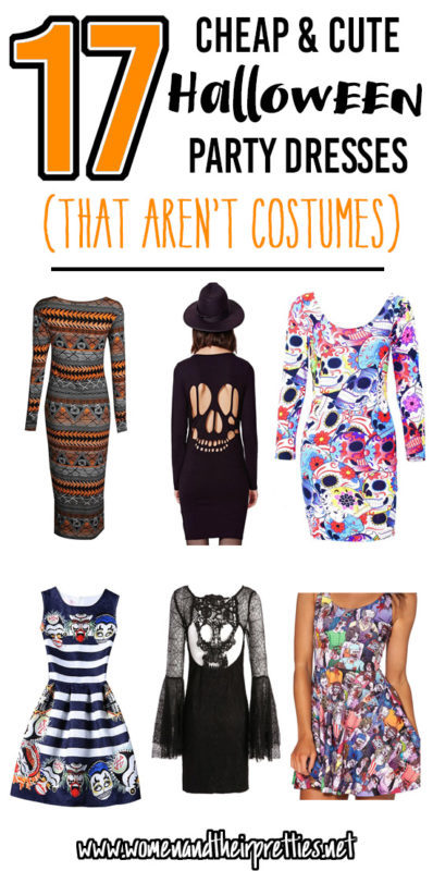 17 Halloween Party Dresses - that aren't costumes. These are all cute, cheap, and easy to order