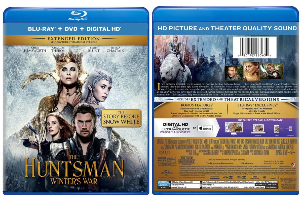 The Huntsman Winters War Blu-ray