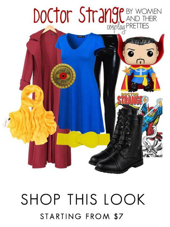 Doctor Strange Outfits - Look #2 is inspired by the Doctor Strange Comics