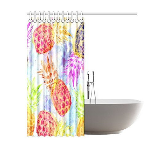 Pineapple shower curtain tough durable waterproof polyester fabric