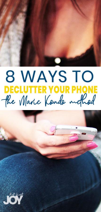 decluttering your phone marie kondo