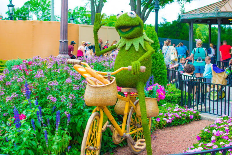 Kermit Topiary at Things to do 2019 Epcot Flower & Garden Festival