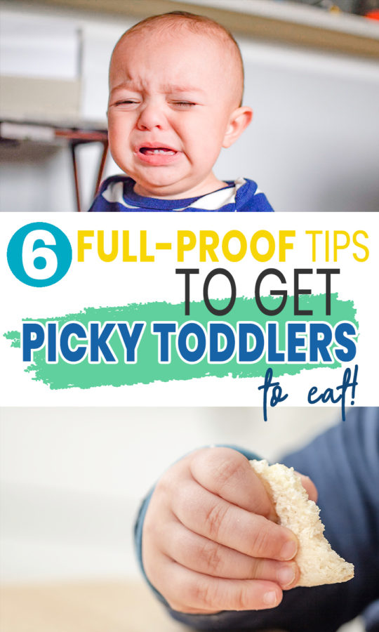 If you're looking for picky toddler eating tips – you'll find 6 full-proof tricks here. You'll also enjoy this hilarious toddler eating video from a very desperate mother.
