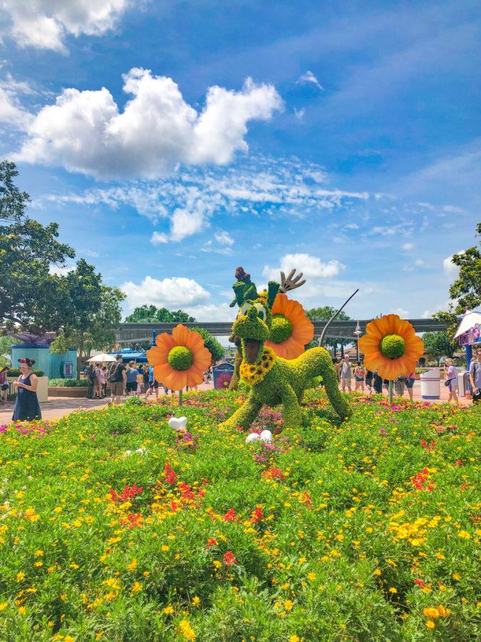 Pluto Topiary at 2019 Epcot Internation Flower & Garden Festival