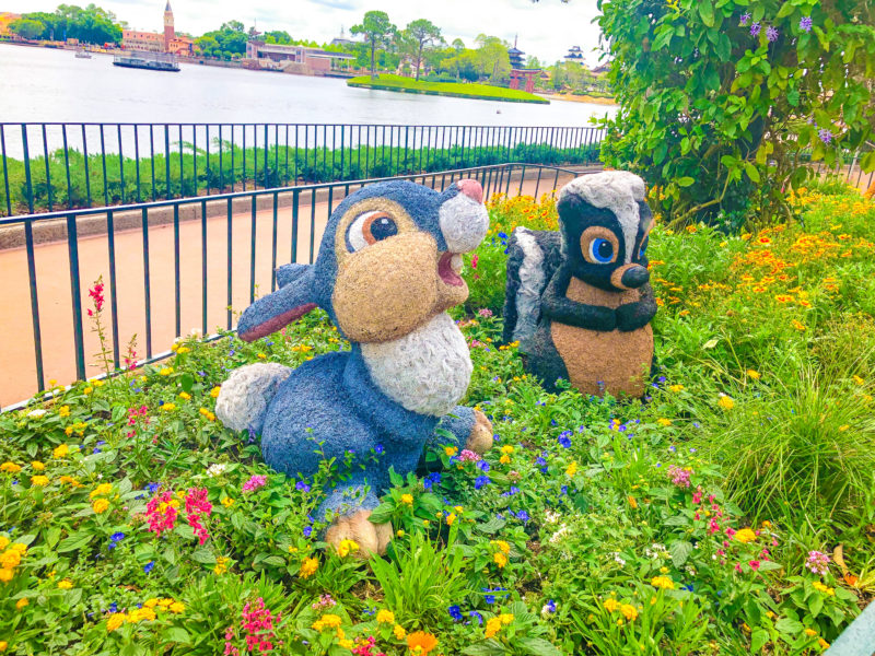 Bambi Topiaries at 2019 Epcot Internation Flower & Garden Festival
