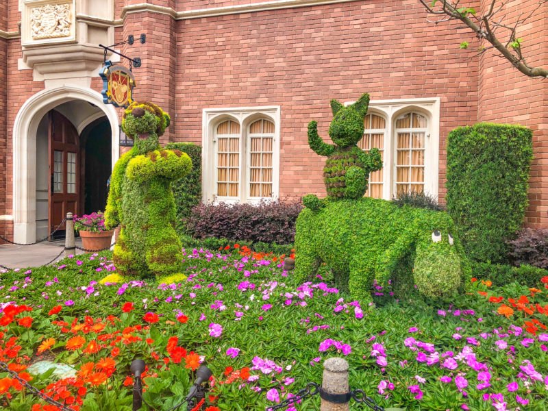 Winnie Pooh Topiary at Epcot