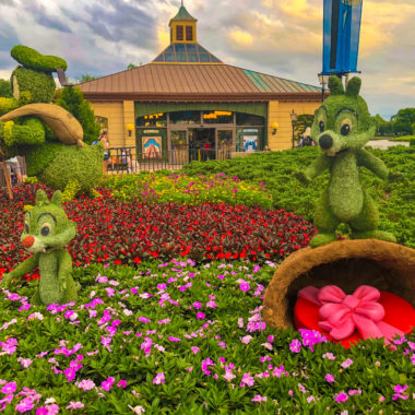 Chipmunks Topiary at Things to do 2019 Epcot Flower & Garden Festival