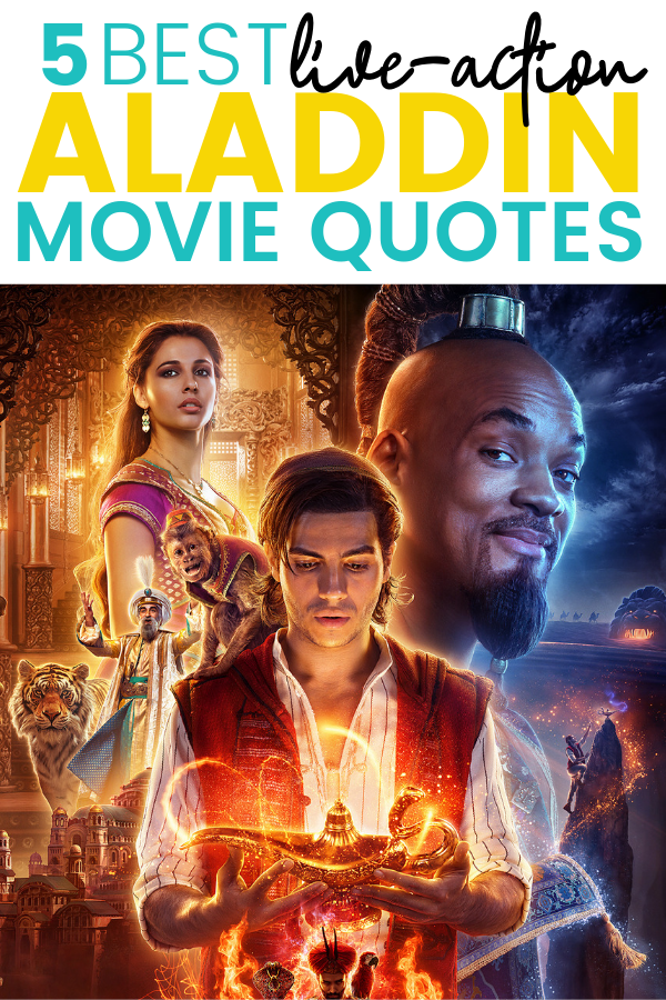 The Live-Action version of Aladdin is hitting theaters this week and I'm all over these Aladdin Movie Quotes in this 2019 remake.