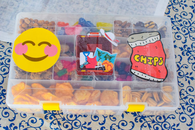 DIY Road Trip Snack Box