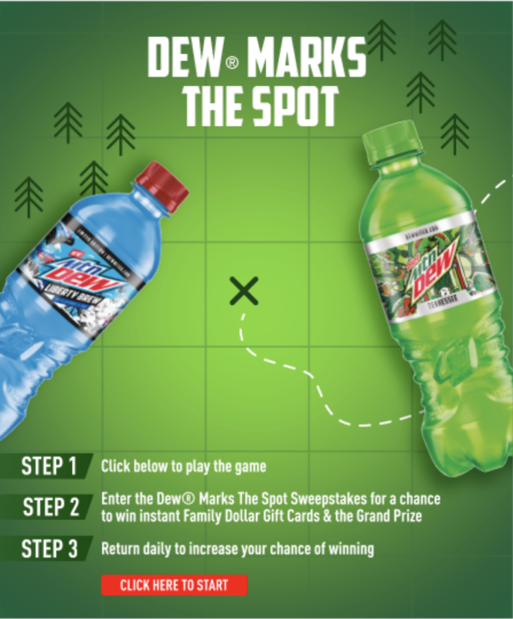 Mountain Dew State Labels