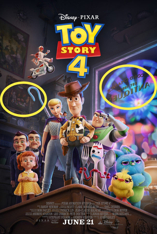 Toy Story 4 Easter Eggs Poster