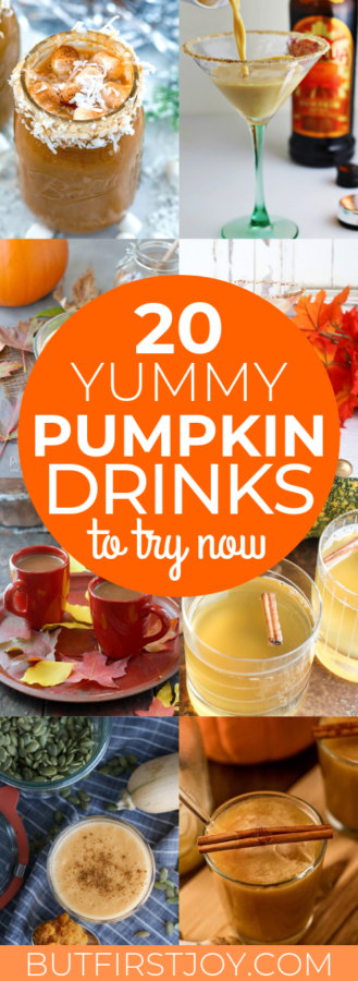 These are a few delicious pumpkin drink recipes to make at home this fall!