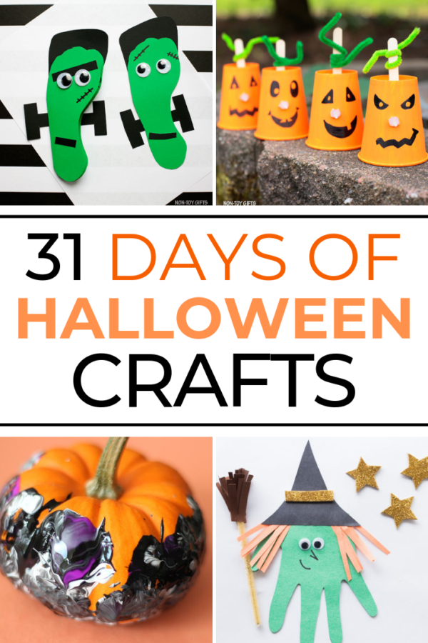Who says a holiday can only be celebrated on a single day? Let's enjoy the festivities with these 31 Days of Halloween Crafts for kids!
