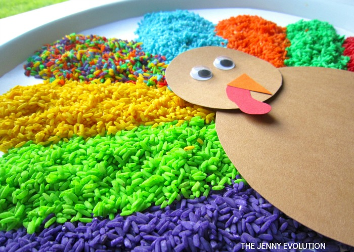 Thanksgiving Turkey Sensory Bin