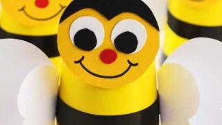 Paper Cup Preschool Bumble Bee Craft Idea
